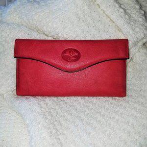 Vintage Buxton women's red organizer wallet clutch
